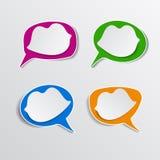 Бумажные губы речи персоны пузыря вектор графической говоря Стоковые Фотографии RF