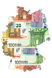 Бумажные деньги евро в форме Германии бесплатная иллюстрация