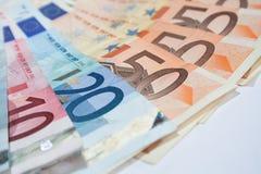 Бумажные деньги евро Стоковая Фотография RF