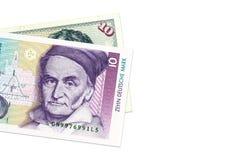 2 10 бумажные деньги немецких метки стоковое изображение rf