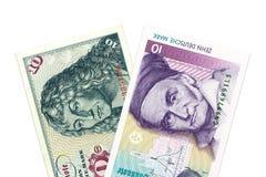 2 10 бумажные деньги немецких метки стоковые изображения rf