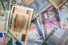 Бумажные деньги различных стран Стоковое Изображение