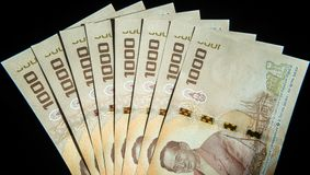 Бумажные деньги Таиланда Стоковые Изображения
