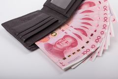 Бумажные деньги фарфора Стоковое Изображение