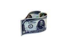 Бумажные деньги в форме сердца Стоковые Изображения