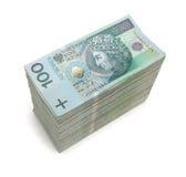 Бумажные деньги изолированные на белизне Стоковые Изображения