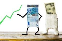 Бумажные деньги, торговля валютой концепции Стоковое Фото