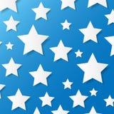 Бумажные звезды. Иллюстрация вектора. Стоковое Фото