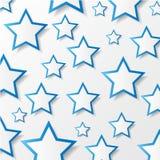 Бумажные звезды. Иллюстрация вектора. Стоковая Фотография RF