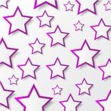 Бумажные звезды. Иллюстрация вектора. Стоковые Фото