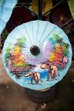 Бумажные зонтики, в Чиангмае, Таиланд Стоковые Изображения RF