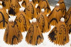 Бумажные зонтики, в Чиангмае, Таиланд Стоковое фото RF
