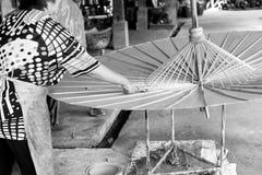 Бумажные зонтики, в Чиангмае, Таиланд Стоковое Изображение RF