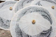 Бумажные зонтики, в Чиангмае, Таиланд Стоковые Фото