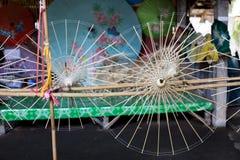 Бумажные зонтики, в Чиангмае, Таиланд Стоковая Фотография