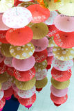 Бумажные зонтики стоковая фотография rf