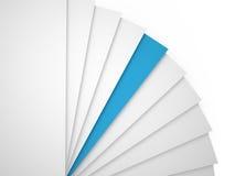 Бумажные листы, 3D Иллюстрация вектора