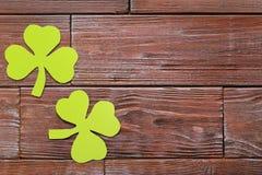 Бумажные листья клевера Стоковая Фотография