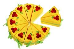 Бумажные куски пирога сделанные с quilling методом Стоковое Фото