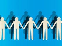 бумажные люди Стоковое Изображение RF