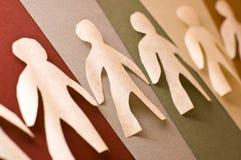 бумажные люди Стоковое Фото