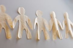 Бумажные люди Стоковые Фото