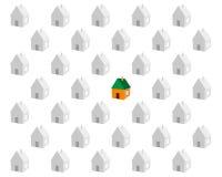 Бумажные небольшие дома Стоковая Фотография RF