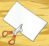 бумажные ножницы стоковое изображение rf