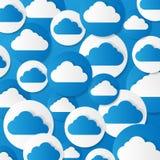 Бумажные облака. Иллюстрация вектора. Стоковое Изображение