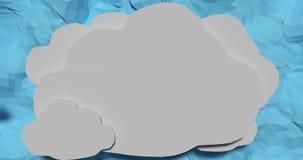 Бумажные облака для цитат Стоковые Фотографии RF