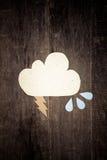 Бумажные облака Стоковые Фотографии RF