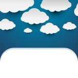 Бумажные облака Стоковые Фото
