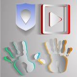 Бумажные логотипы стоковые изображения rf