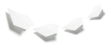 бумажные плоскости Стоковые Фотографии RF
