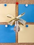 Бумажные примечания для идей стоковая фотография
