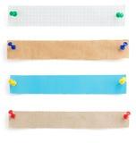 Бумажные прокладки на белизне Стоковое Изображение RF
