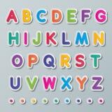 Бумажные прописные буквы Стоковые Изображения
