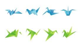 Бумажные птицы в различных углах бесплатная иллюстрация