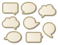 Бумажные пузыри речи Стоковые Фотографии RF