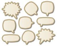 Бумажные пузыри речи Стоковые Изображения