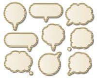 Бумажные пузыри речи Стоковое фото RF