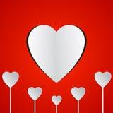 Бумажные сердца Стоковые Изображения
