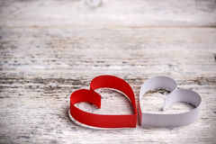 Бумажные сердца Стоковое Фото