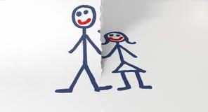 Бумажные срывая пары врозь Стоковое Фото