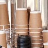 Бумажные стаканчики для чая или кофе Стоковые Изображения