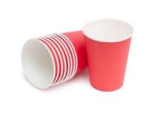 Бумажные стаканчики Стоковое Фото