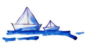 Бумажные ступицы на воде Стоковое Изображение RF