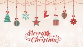 Бумажные украшения рождества иллюстрация вектора