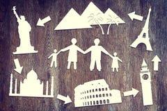 Бумажные утили о перемещении семьи Стоковое Фото