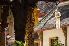 Бумажные фонарики, вися фонарики/украшение виска или дом Стоковые Изображения RF